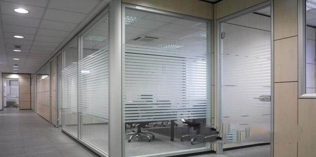 单层条纹玻璃隔断